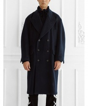 [ulkin] UL:KIN COLLECTION LABEL_OVERSIZED DOUBLE BREASTED COAT