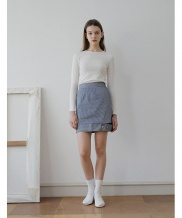 [YUPPE] denim stripe skirt
