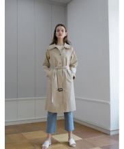 [YUPPE] frill trench coat