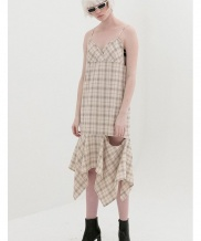 [B ABLE TWO] Asymmetry Open Dress