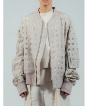 [ulkin] UL:KIN COLLECTION LABEL_SHEERING CHECK BLOUSON