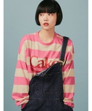 [A PIECE OF CAKE] Cake Stripe Longsleeved T-shirts