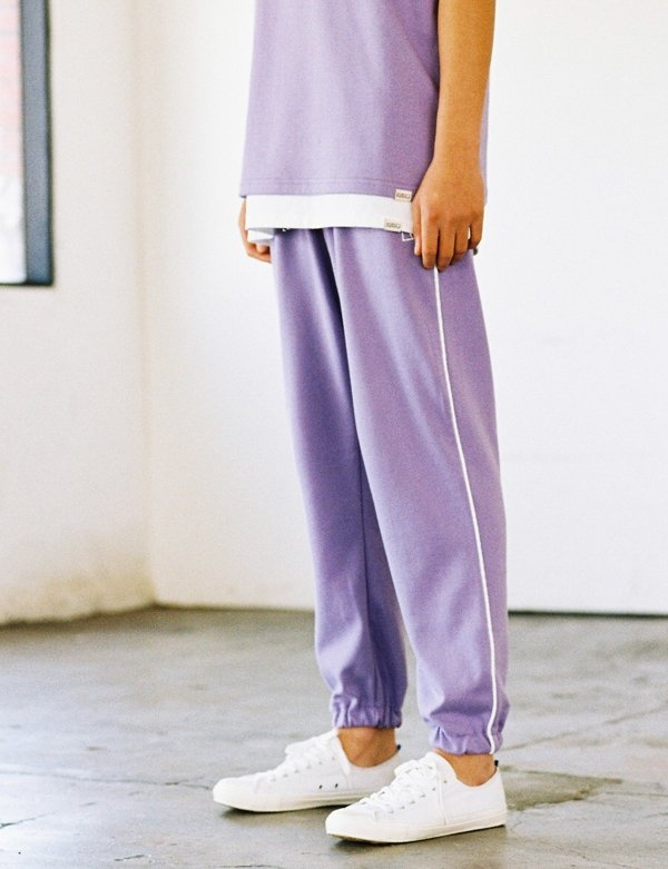 [IVORYPAPER] SIDE-LINE SWEAT JOGGER-PANTS