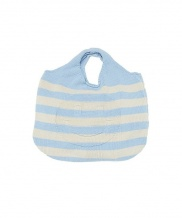 [whatever we want] SMILE STRIPE KNIT BAG
