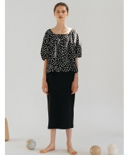 [nuissue] SQUARE NECK DOT BLOUSE