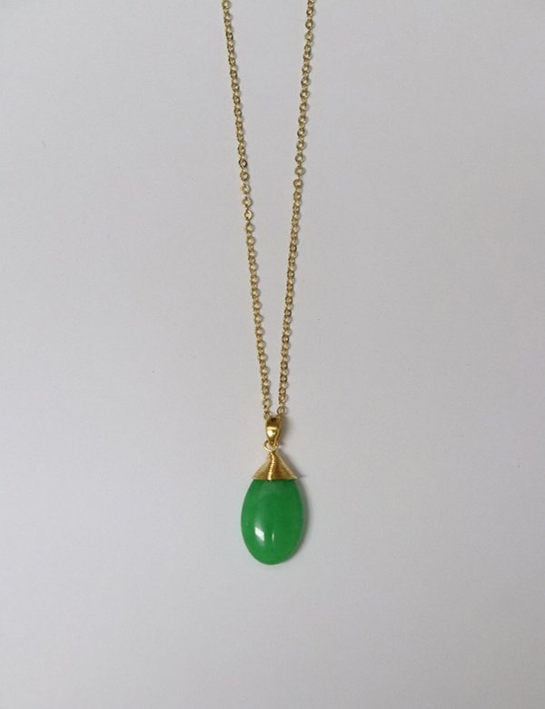 [momentel jewelry] 緑玉 ネックレス