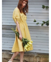 [Sorry, Too Much Love] lady linen dress