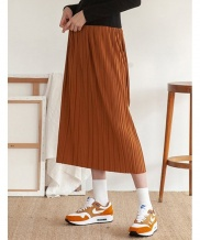 [TARGETTO] BANDING FLARE LONG SKIRT