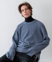 [INSILENCE] OVERSIZED WOOL CREW NECK KNIT