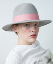 [AWESOME NEEDS] LAMBS WOOL FEDORA HAT_GREY