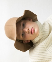 [AWESOME NEEDS] LAMBS WOOL ROUND BUCKET HAT