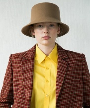 [AWESOME NEEDS] LAMBS WOOL SQUARE BUCKET HAT