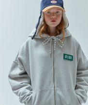 [5252] O!Oi LOGO POINT HOOD ZIPUP