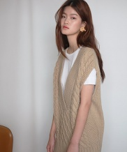 [SOFT SEOUL] vest knit one-piece