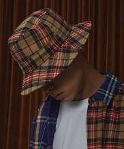 [COQUET STUDIO] UNISEX CHECK BUCKET HAT