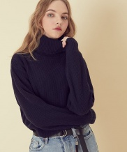 [ARTENO STUDIO] 7GG Wool80 Turtle neck Knit