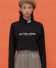 [DIM.E CRES.] BASIC LOGO TURTLE NECK TOP