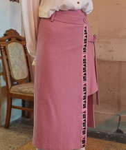 [VVV] VVV LOGO TAPE WRAP SKIRT