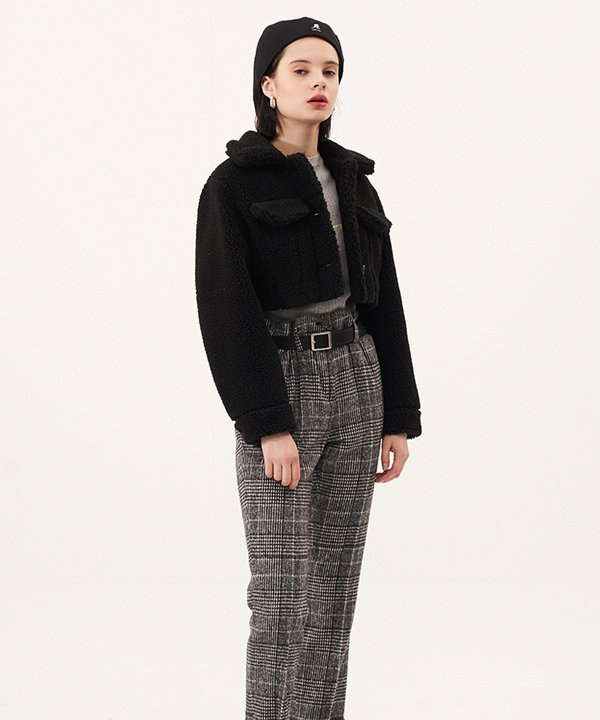 [ODDONEOUT] BUBBLING CROP JACKET