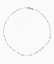 [090FACTORY] [Silver] Two chains Necklace (Silver, Gold)