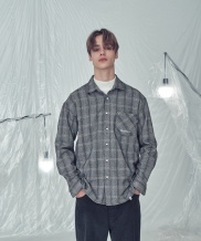 [TRIP LE SENS] OVER FIT HERRING CHECK SHIRTS