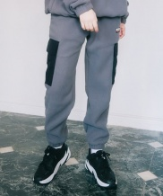 [ANOUTFIT] UNISEX FLEECE POCKET PANTS