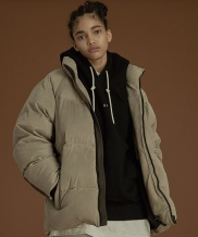 [OVERCAST] Suede Goose Down Jacket