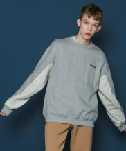 [SLOWACID] Two-tone Sleeve Sweatshirt