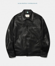 [Diamond Layla] Layla endless love All black Artificial Leather Coach Jacket J5