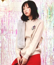 [Sorry, Too Much Love] Wappen Slit Wool Knit