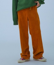 [OOD] CORDUROY TURN-UP WIDE PANTS