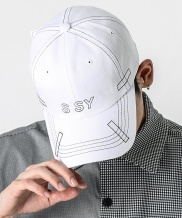 [S SY] RECTANGLE STITCH CAP