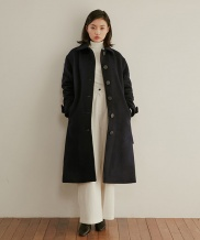 [WUZU STUDIO] WUZU OVER LONG SINGLE COAT (W)