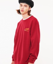[S SY] PROGRESSIVE LOOSE FIT GRAPHIC SWEAT SHIRTS