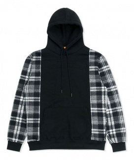 [DUCKDIVE] CHECK MIXED HEAVY HOODIE