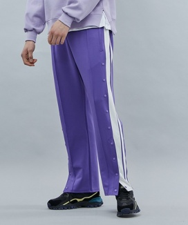 [motivestreet] HALF BUTTON TRACK PANTS