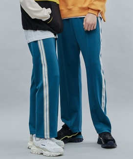 [motivestreet] LINE TAPE TRACK PANTS