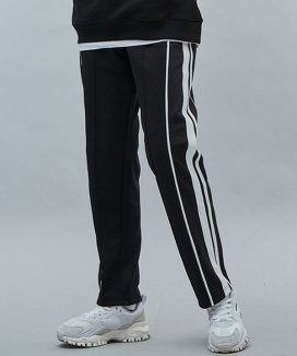 [motivestreet] DOUBLE LINE TRACK PANTS