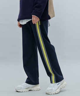 [motivestreet] FRONT TAPE TRACK PANTS