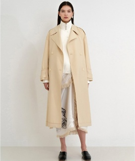 [Out of stock] CASHMERE WOOL TRENCH