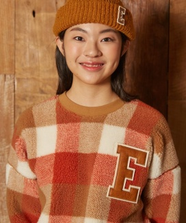 [EPICSODE] Eddy Bear Big Check Sweat Shirts