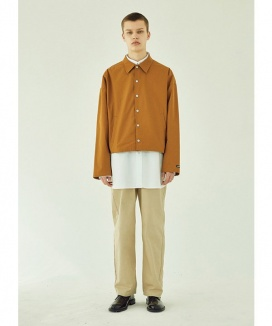 [LAYER UNION] CROPPED OVER COACH JACKET
