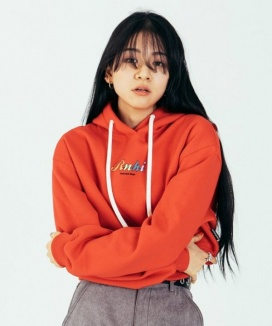 [RUNNING HIGH] COLORFUL LETTERING CROP HOODIE (기모O)