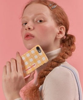 [oioi] GINGHAM CHECK PHONE CASE