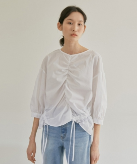 [38comeoncommon] 19S STRING BLOUSE