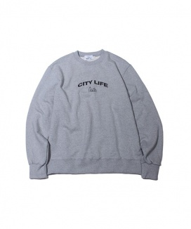 [ABOUT CITY] CITY LIFE ARCH LOGO CREW NECK