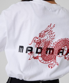 [MADMARS] DRAGON EMBROIDERED T-SHIRT
