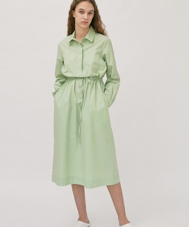 [nuissue] BASIC COLLAR LONG ONEPIECE