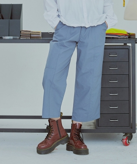 [UMM] WIDE CUTTING COTTON PANTS