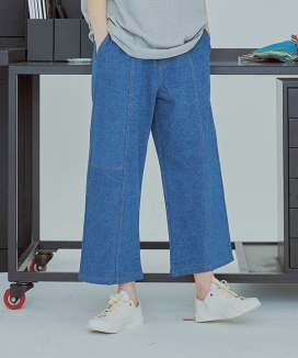 [UMM] WIDE CUTTING DENIM PANTS